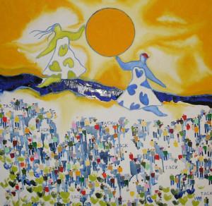 HYLLNING TILL LIVET-Veronika Wifvesson-Fineartgiclée, 50x50